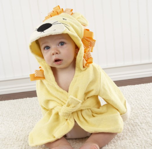 Baby Aspen, Big Top Bath Time Lion Hooded Spa Robe