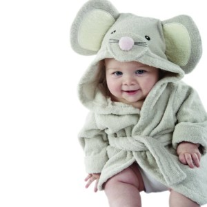 Baby Aspen, Squeaky Clean Mouse Hooded Spa Robe
