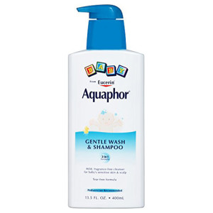 Aquaphor Baby Gentle Wash & Tear Free Shampoo, Fragrance Free Mild Cleanser