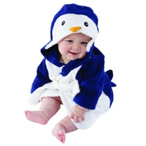 Baby Aspen, Wash & Waddle Penguin Hooded Spa Robe