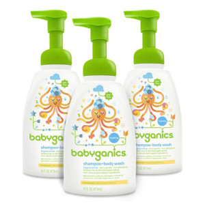 Babyganics Baby Shampoo + Body Wash, Fragrance Free