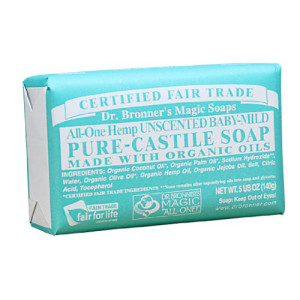 Dr. Bronner's Magic Soaps Pure-Castile Soap, All-One Unscented Baby-Mild