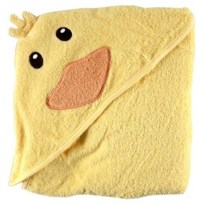 Luvable Friends Animal Face Hooded Woven Terry Baby Towel Duck