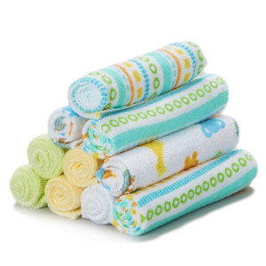 Spasilk 10 Pack Soft Terry Washcloth – Stripes