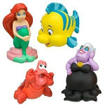 Disney Parks Little Mermaid Bath Toys Set